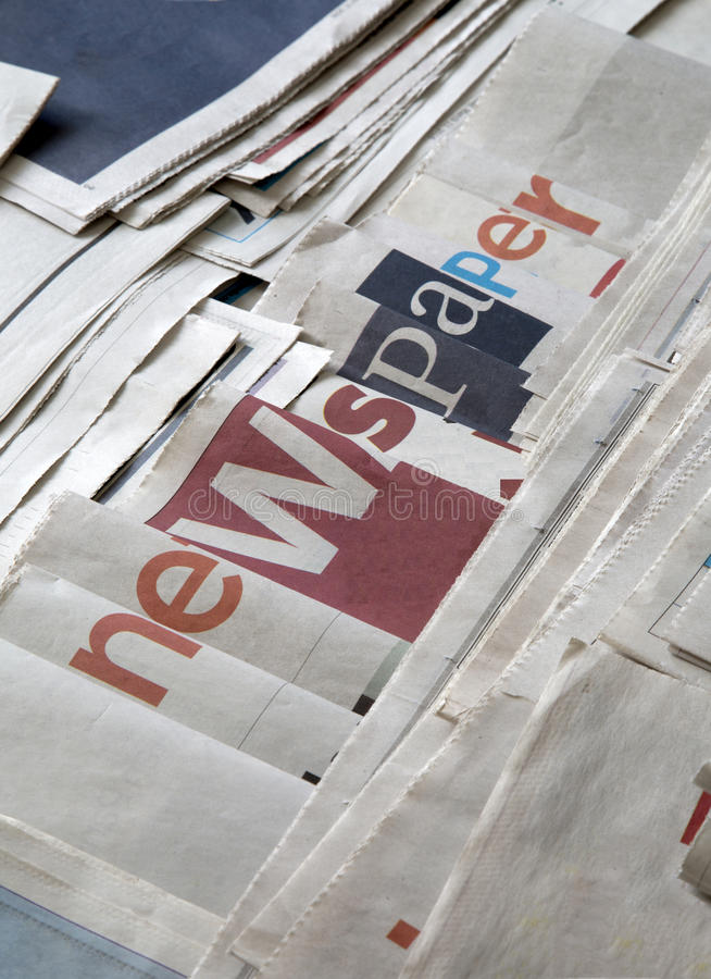 A lot of newspapers. A lot of newspaper background royalty free stock photos