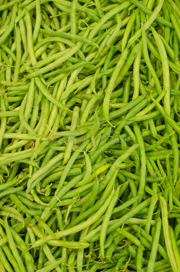 Lot of pea pods. In supermarket royalty free stock images