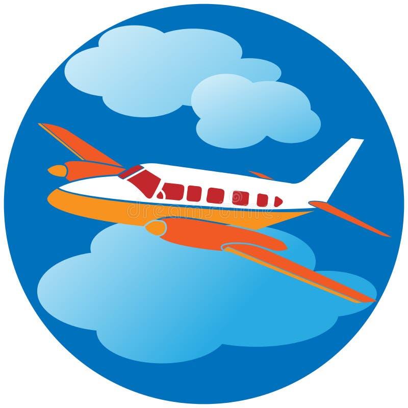 Lot podróż ilustracja wektor