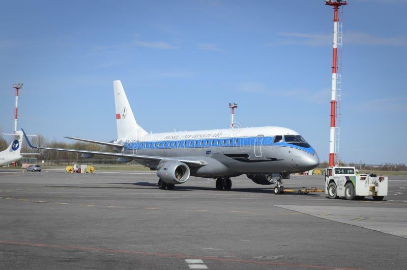 LOT Polish Airlines imagem de stock royalty free