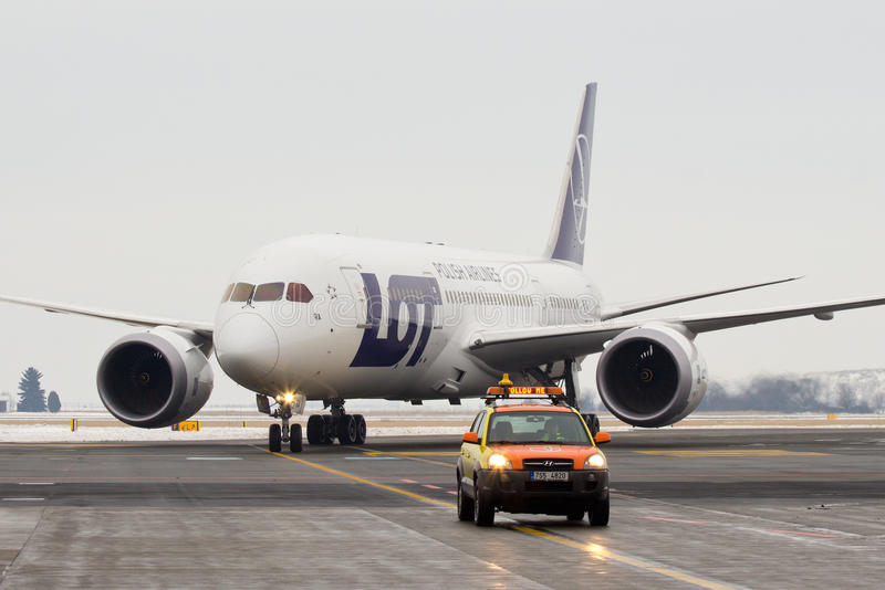 LOT Polish Airlines, Boeing B787 Dreamliner stock afbeeldingen