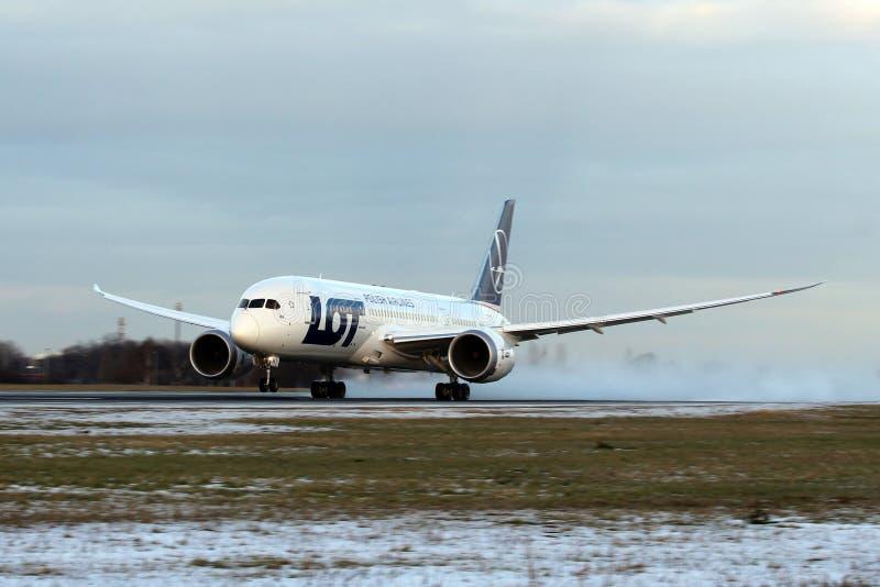 LOT Polish Airlines, Boeing B787 Dreamliner zdjęcia royalty free