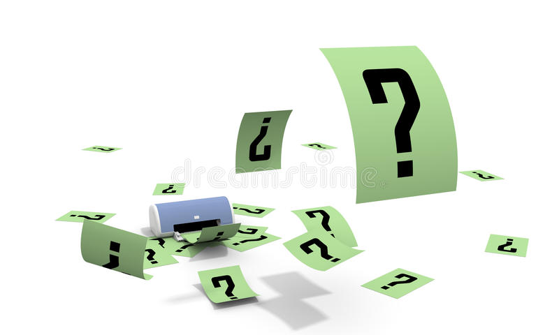 It is a lot of questions stock illustration
