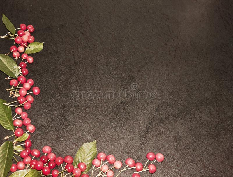 A lot of red cherries on a background, stock images