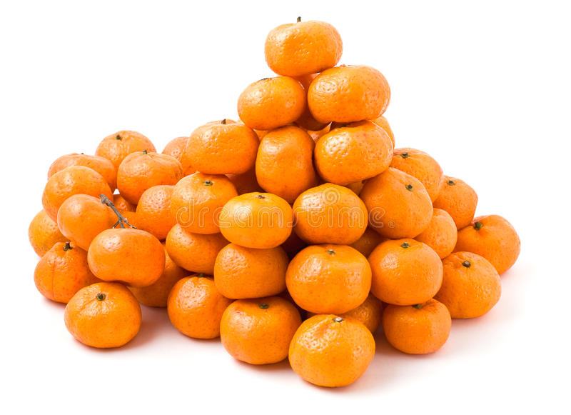 Lot of ripe mandarin oranges stock images