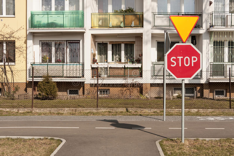 A lot of road signs royalty free stock image