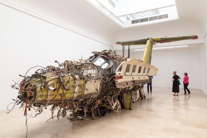 Lot rzeźba BIennale Vennice 2019 zdjęcie stock