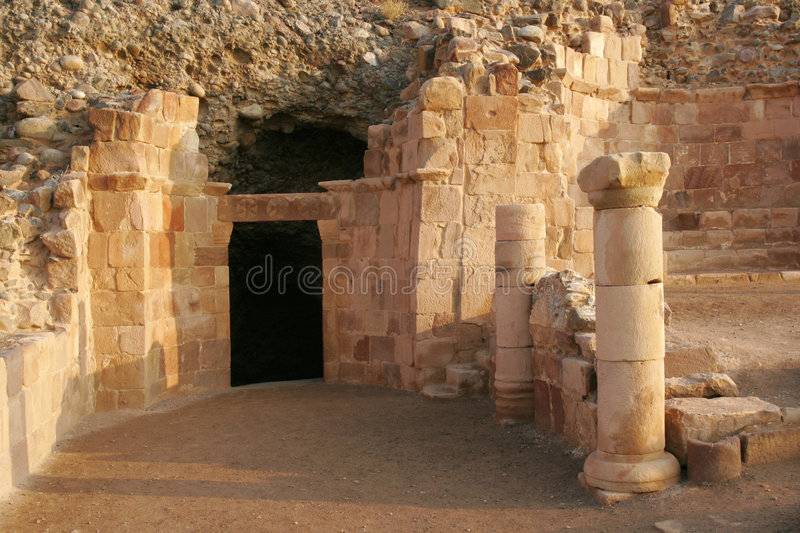 Lot's cave royalty free stock photography