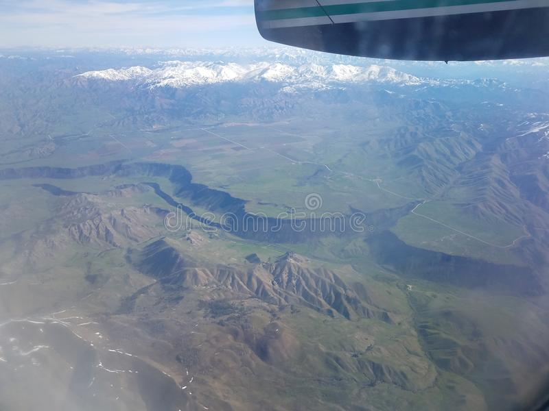 Flight from Portland PDX to Salt Lake City stock photo