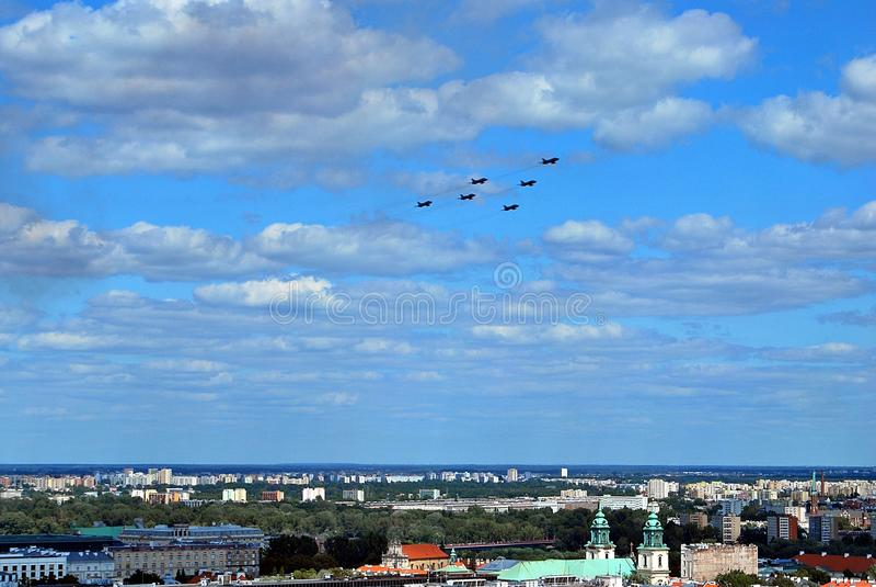 Lot samoloty obrazy royalty free