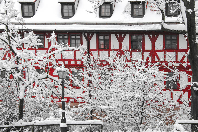 German city winter stock image