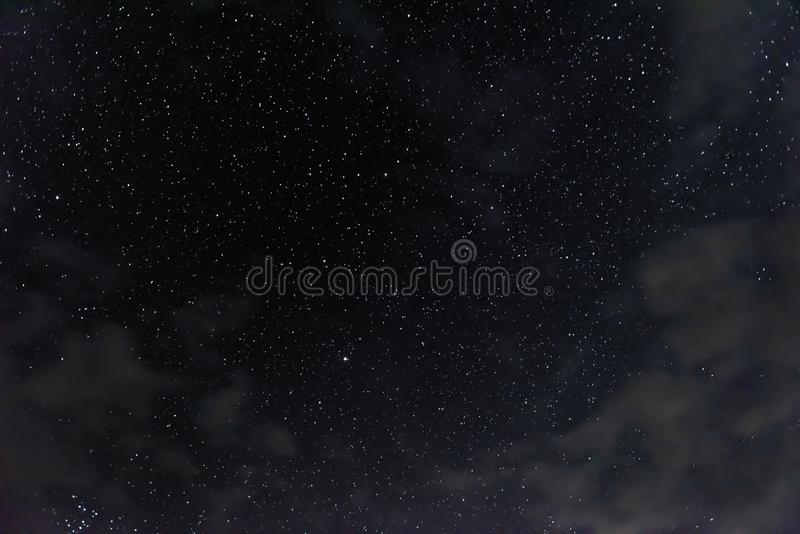 A lot of stars in the night sky royalty free stock photography