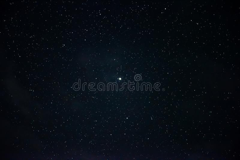 A lot of stars in the night sky stock images