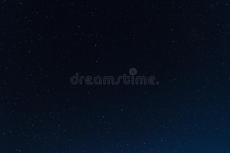 A lot of stars in the night sky stock photography