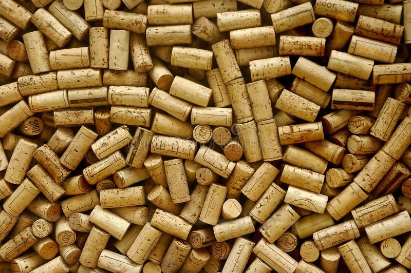 Lot Weinkorken stockfotografie