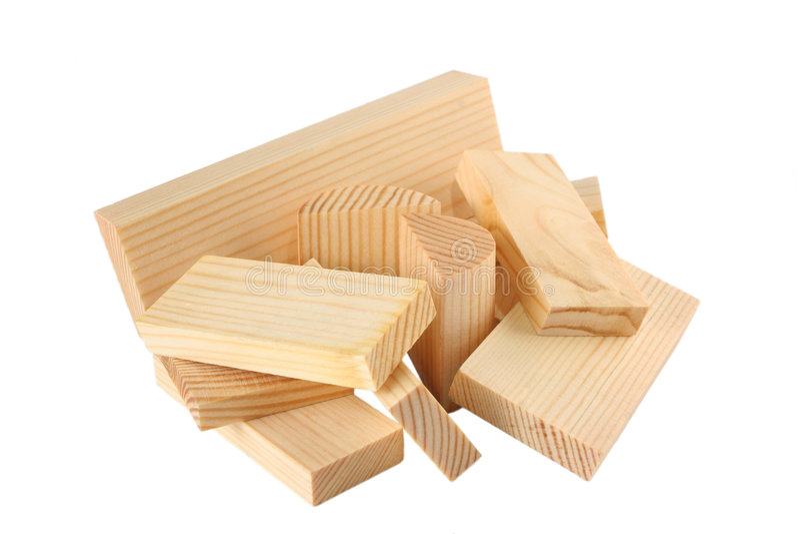 Lot Of Wood Bricks Royalty Free Stock Photos