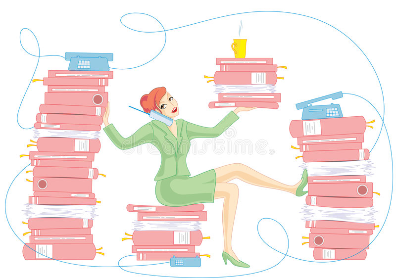 A lot of work stock illustration