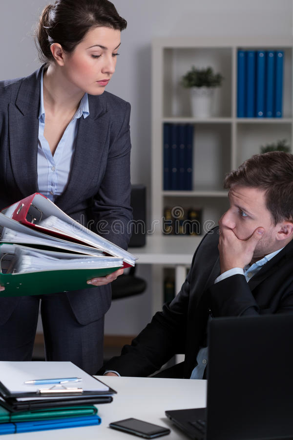 Lot of work royalty free stock image