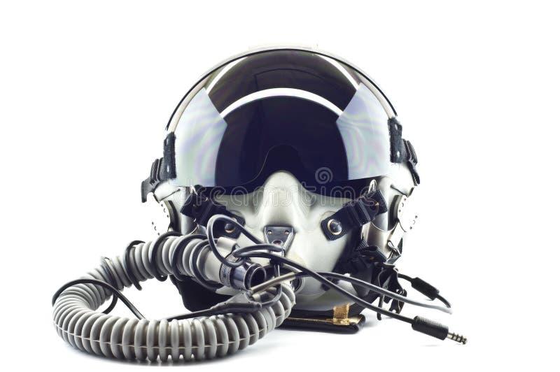 Lota hełm z maską tlenową. fotografia stock