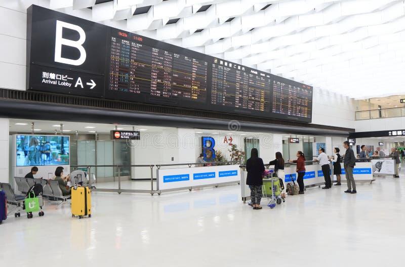 Lota rozkładu rozkład zajęć Narita lotniskowy Tokio Japonia fotografia stock