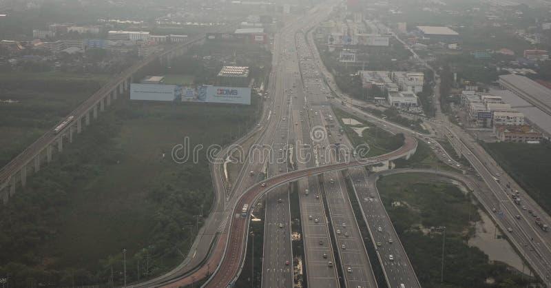 Lota widok ruchliwie autostrada w godzina szczytu obraz royalty free