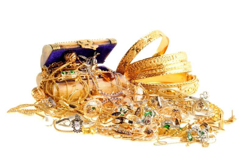 Lote da jóia do ouro fotografia de stock royalty free