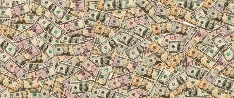 Lote de dólares americanos do dinheiro no fundo fotos de stock