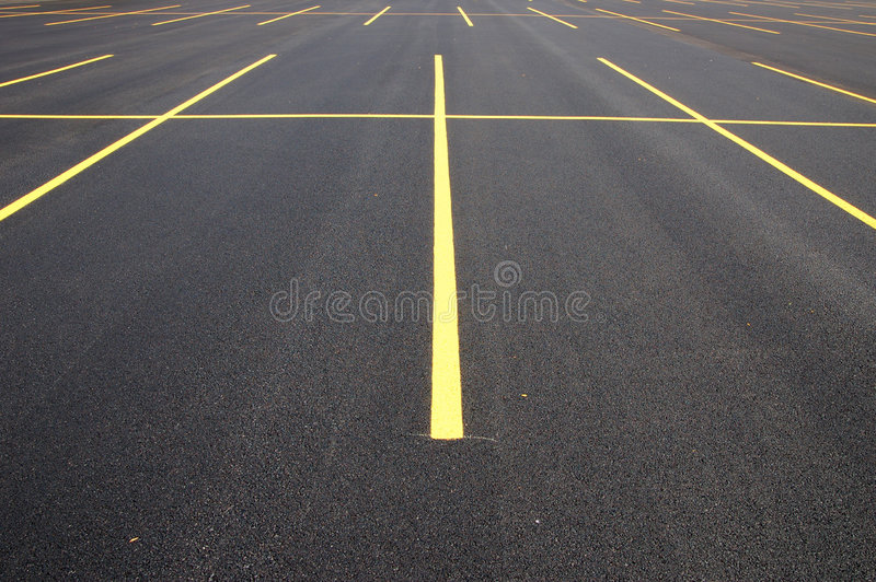 Lote de estacionamento foto de stock