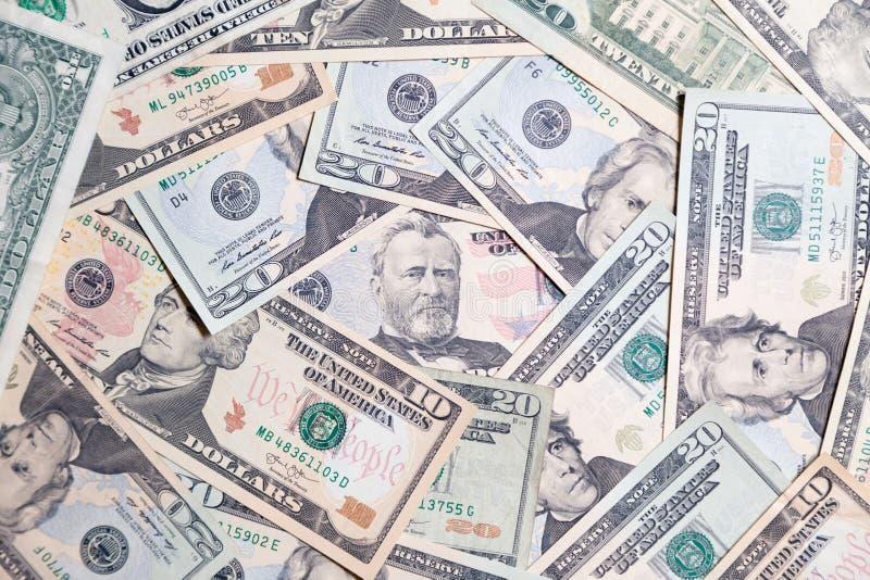 Lote do close up do presidente americano das cédulas do dólar Pulo do conceito, queda, taxa, troca de moeda, débito, lucro, perda foto de stock royalty free