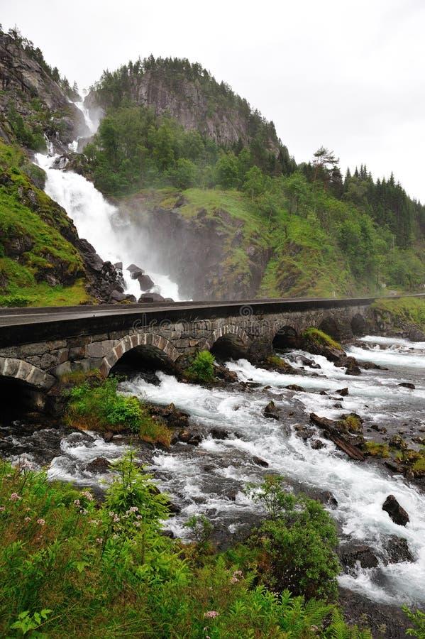 Lotefossen Waterfall stock images