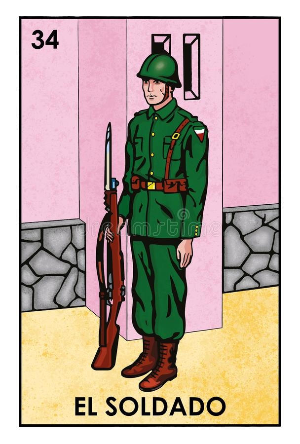 LoterÃa Mexicana - EL Soldado - image de haute résolution photo libre de droits