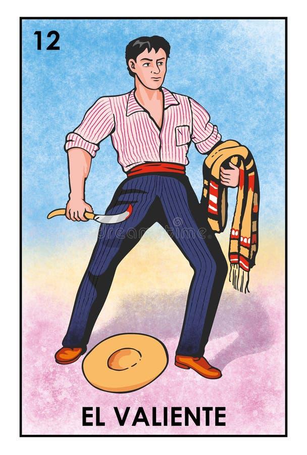 LoterÃa Mexicana - EL Valiente - imagen de alta resolución libre illustration