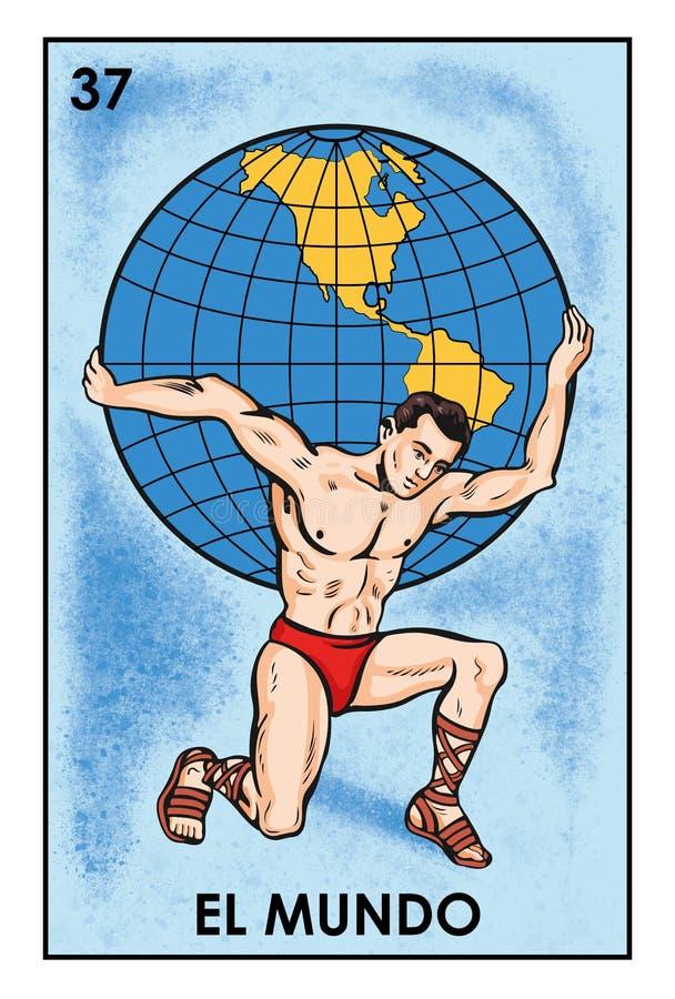 LoterÃa Mexicana - image de haute résolution d'EL Mundo- illustration stock