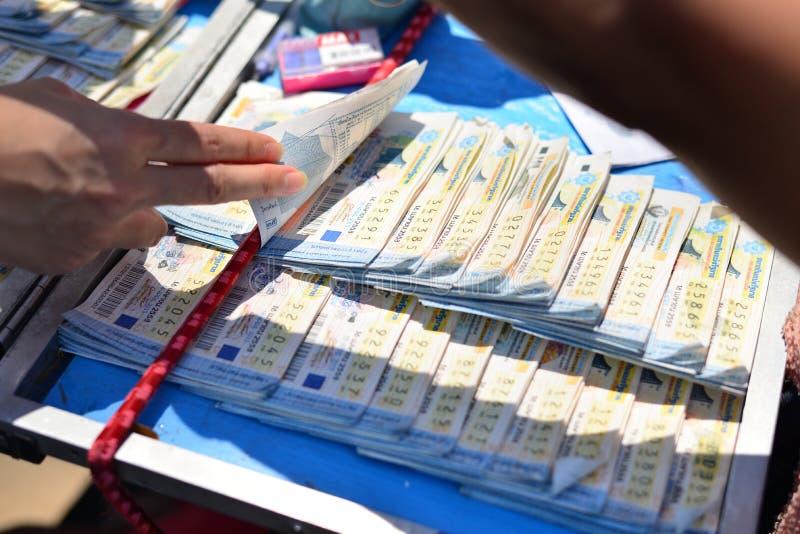 Lotería tailandesa imagen de archivo libre de regalías