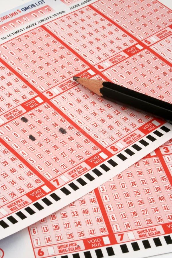 loteria zdjęcie stock