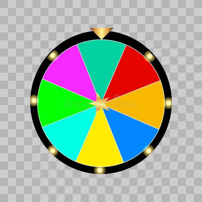 Loteria da roda da fortuna ilustração royalty free