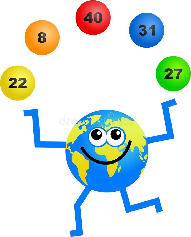 loteria kulę. ilustracja wektor