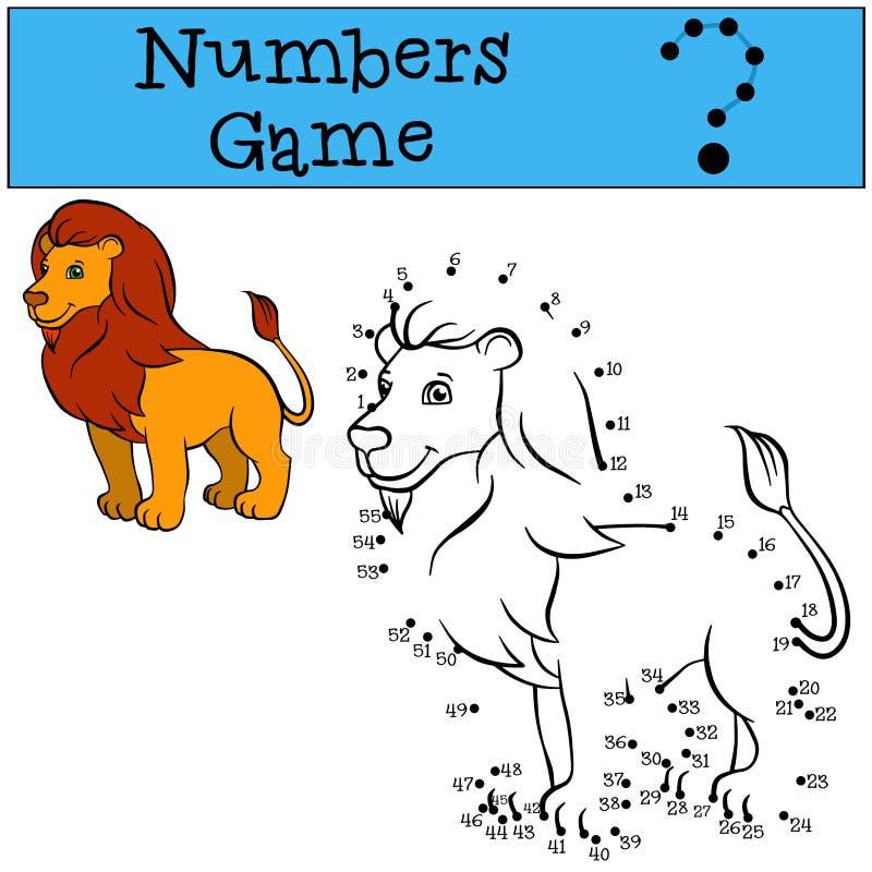 Loteria liczbowa Śliczny piękny lwa królewiątko ilustracji