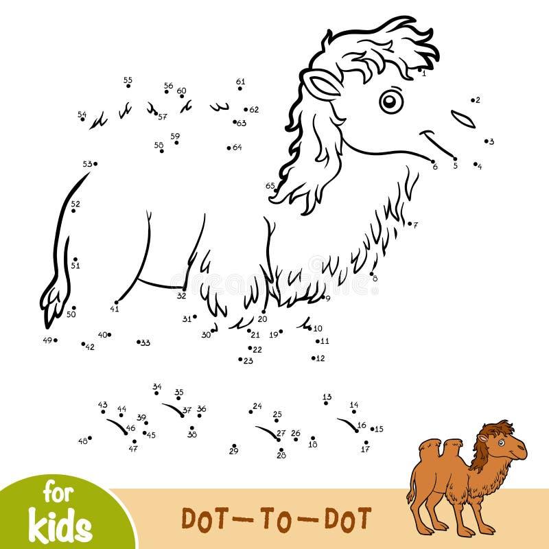Loteria liczbowa, gra dla dzieci, Dwugarbny wielbłąd royalty ilustracja