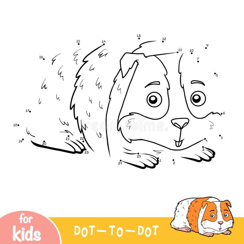 Loteria liczbowa, kropka kropkować grę dla dzieci, królik doświadczalny royalty ilustracja