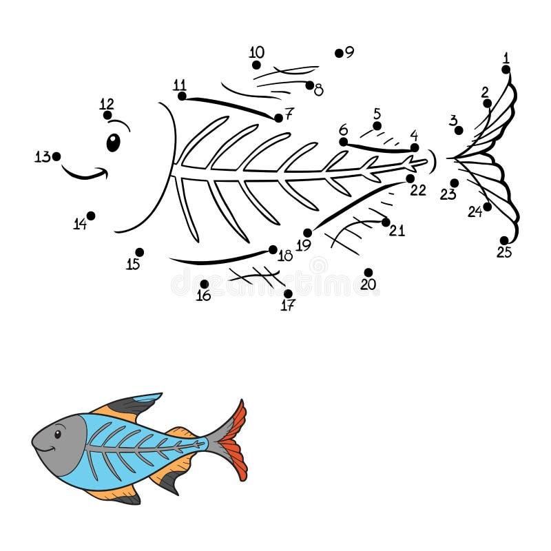 Loteria liczbowa (promieniowanie rentgenowskie ryba) ilustracji