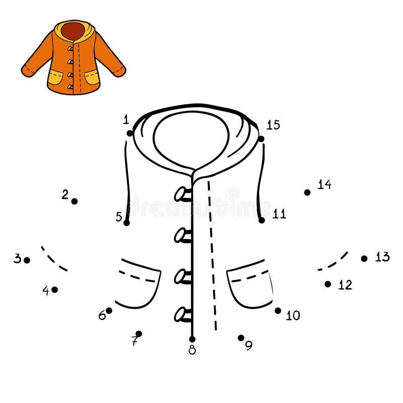 Loteria liczbowa, zima żakiet royalty ilustracja