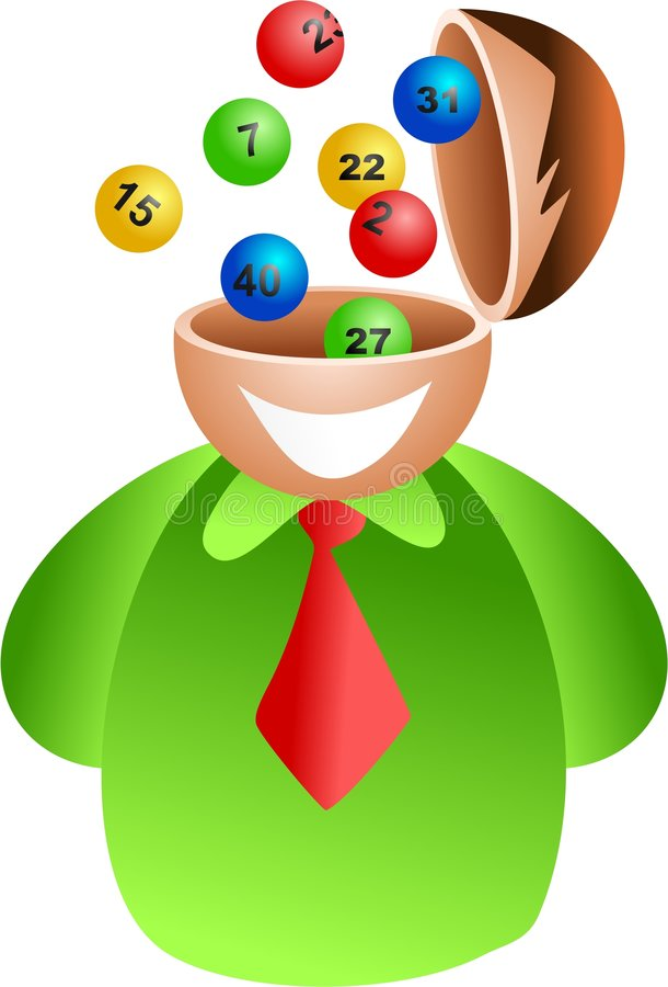 loteria mózgu royalty ilustracja