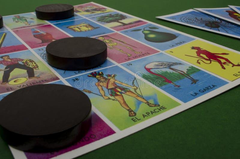 Loteria mexicana imagem de stock