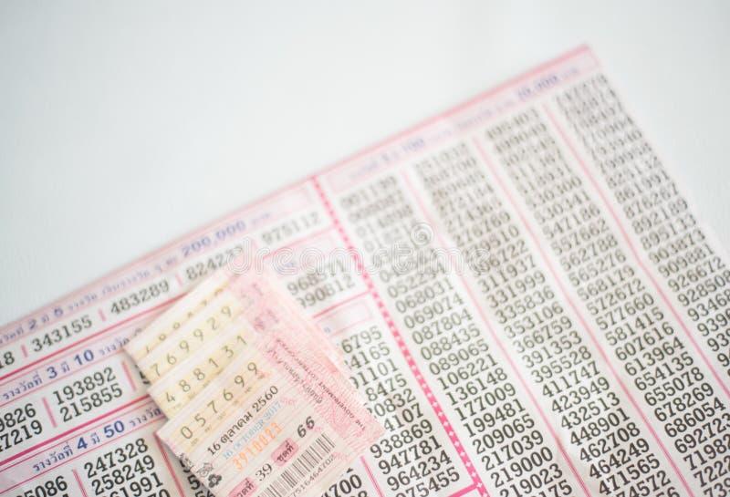 Loteria tailandesa en blanco imagen de archivo