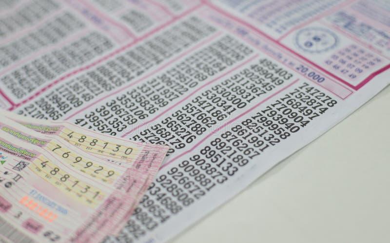Loteria tailandesa en blanco fotografía de archivo libre de regalías