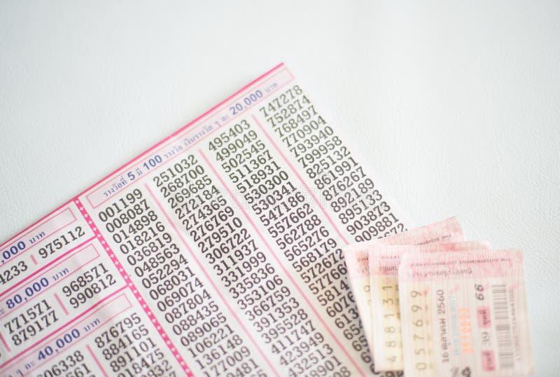 Loteria tailandesa en blanco fotos de archivo