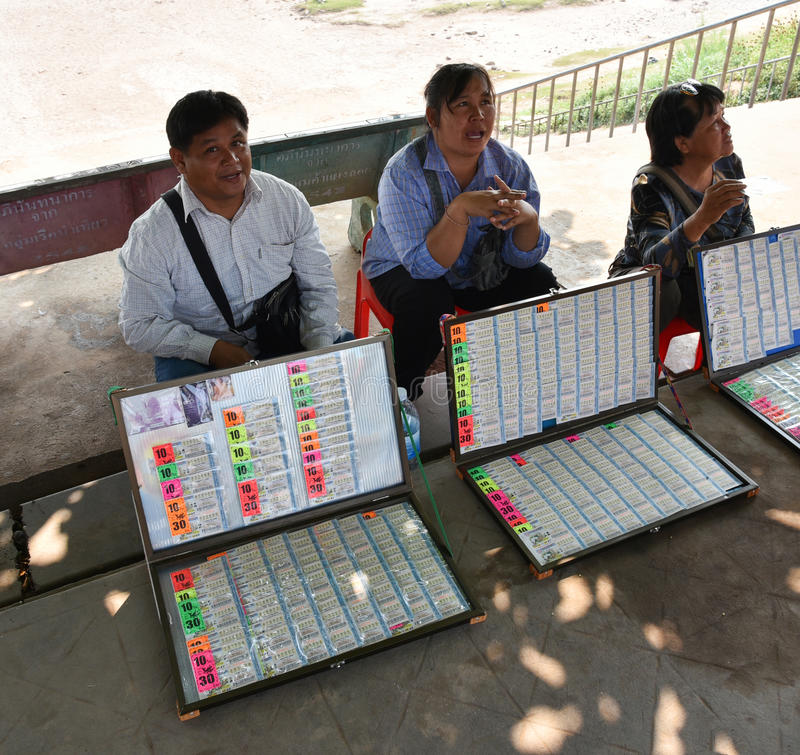 Loterie de vendeur thaïlandaise photographie stock