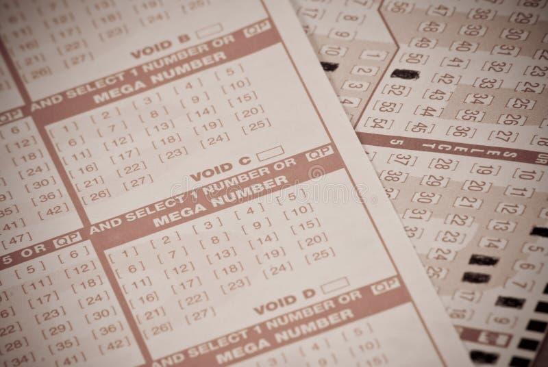 Loterie jouant image libre de droits