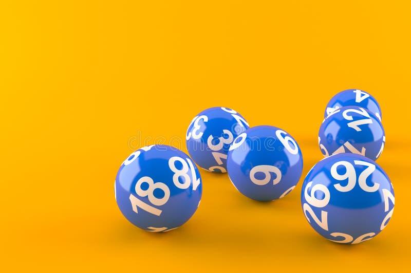 Loterijballen royalty-vrije illustratie